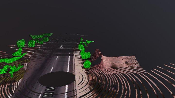 LIDAR Simulation 10hz 1000fps 3D Model
