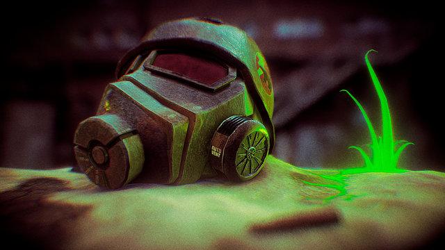 Fallout NCR Ranger Helmet 3D Model
