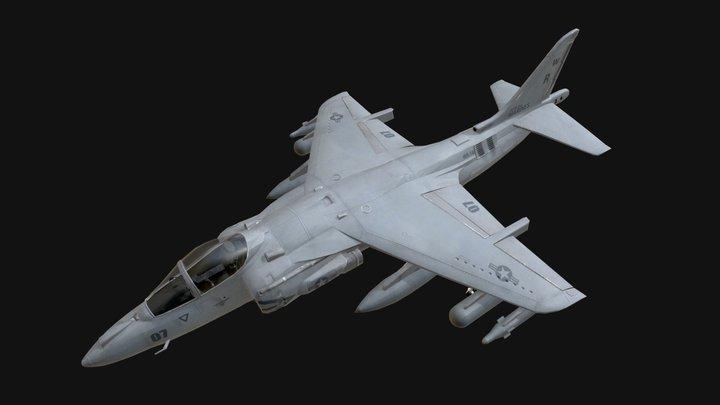 Harrier Jet Aeroplane (Low Poly) 3D Model