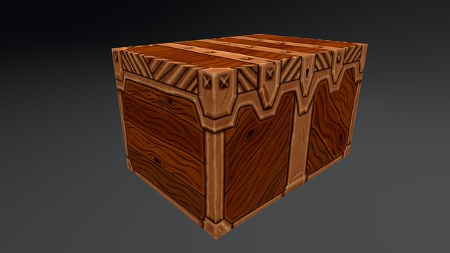Hand Painted Crate 3D Model