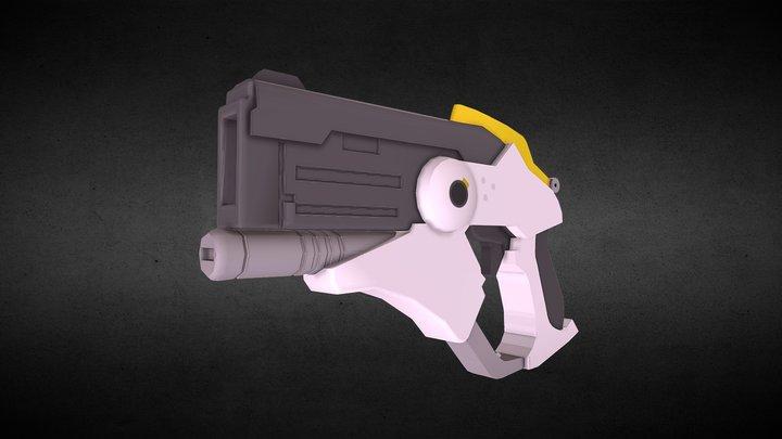 Mercy Overwatch Gun Textured 3D Model