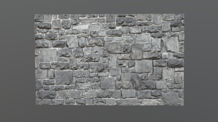 Stone wall texture 3D Model