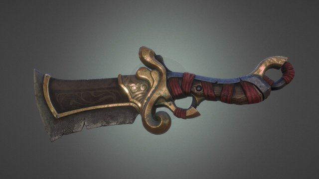 Fantasy knife 01 3D Model