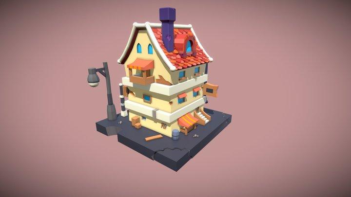 Stylized House. (TrickyEgor) 3D Model