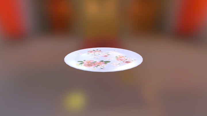 Victorian Dining Plate 3D Model