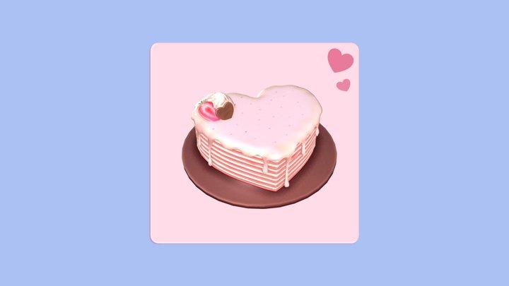 Heart Crepe Cake 3D Model