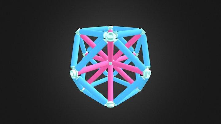 Vector Equilibrium Coloured 3D Model