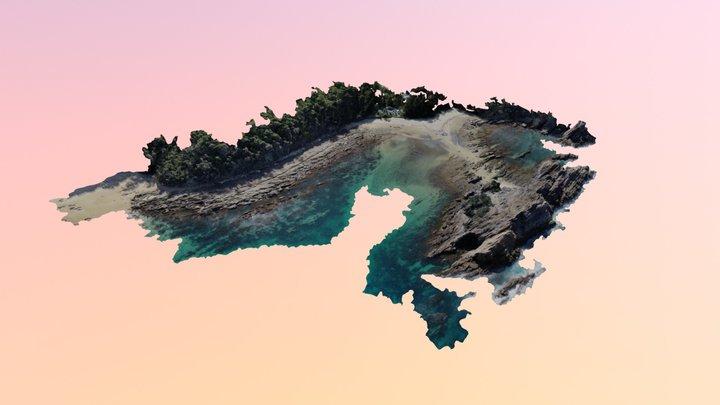 Guerilla Bay Rock and Platform 3D Model
