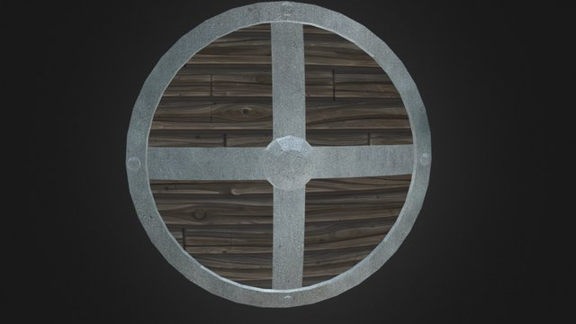 Low Poly Shield 3D Model