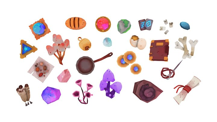 Item Collection 3D Model