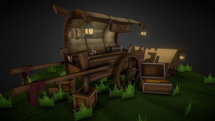 Traveling Merchant Cart 3D Model