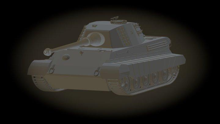 "Panzerkampfwagen VI ""King Tiger"" 3D Model"