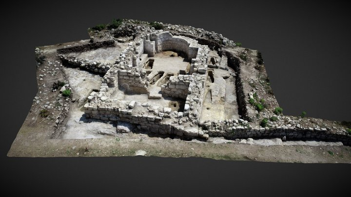Excavation in medieval town of Cherven_2019 3D Model