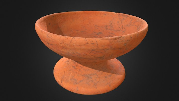 Clay cup, 1st to 5th century (Funan), Cambodia 3D Model