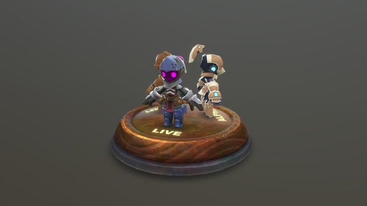Alpha, Beta, & Live Knights - Spiral Knights 3D Model