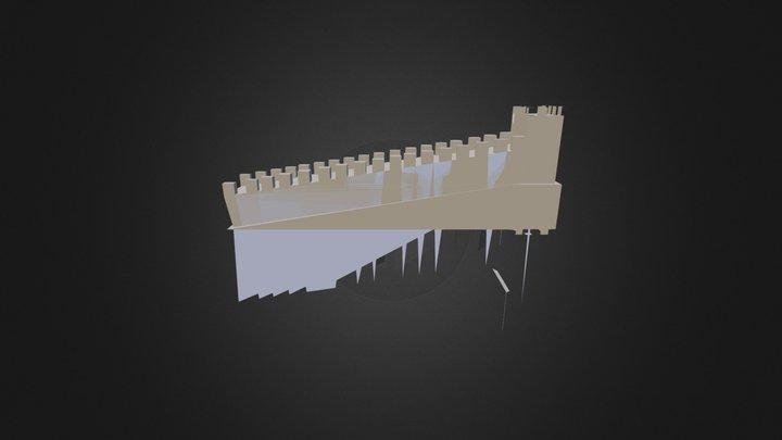 Google Sketchup Muraille 3D Model