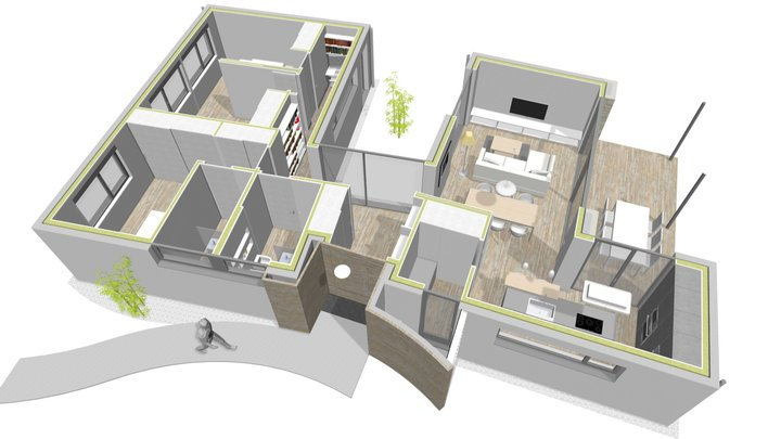 183-18 Vivienda Covas, Ferrol (interior) 3D Model