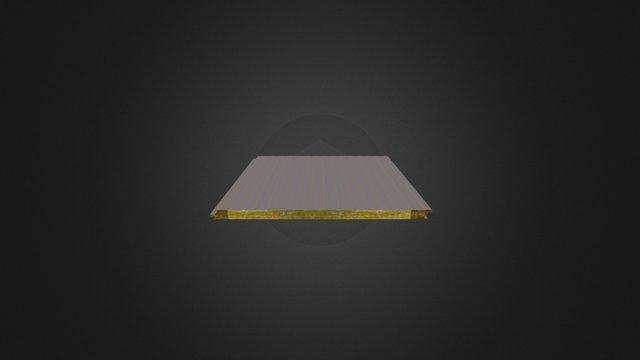 Fulltaşyünü Dolgulu Akustik Cephe Paneli 3D Model