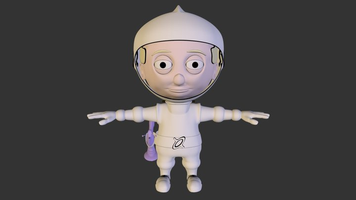 Kid, Spacesuit 3D Model