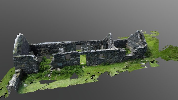 Ruins Of Old House 3D Model