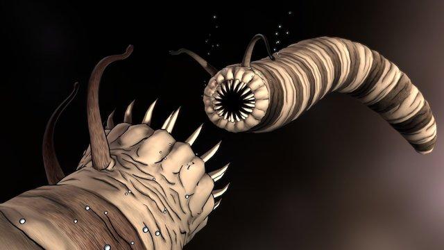 Monster Slug-Worms 3D Model