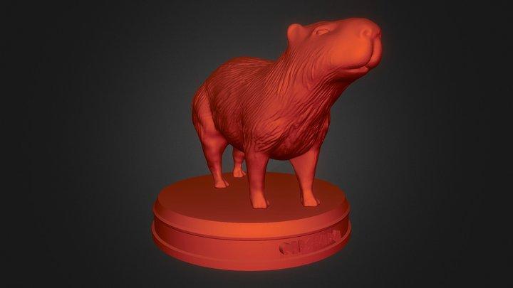 Realistic Capybara 3D Model