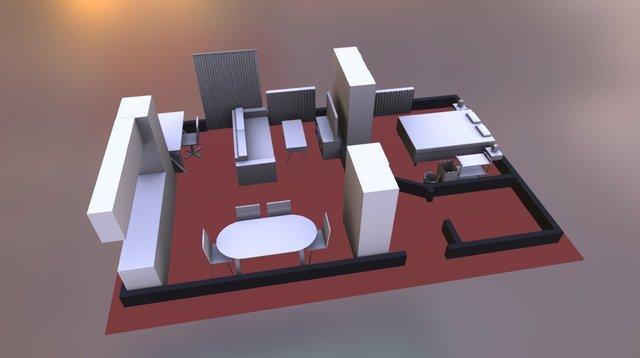 Furniture arrangement 3D Model