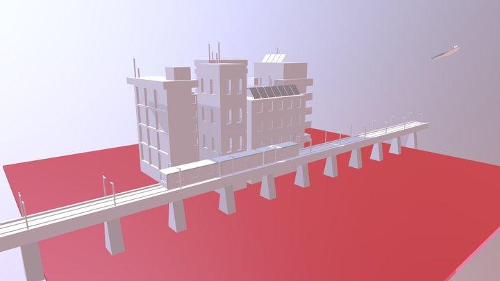 Quick City Build V001 3D Model