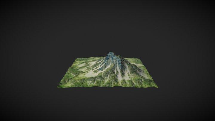 Grass Mountain/Terrain - Low Poly 3D Model