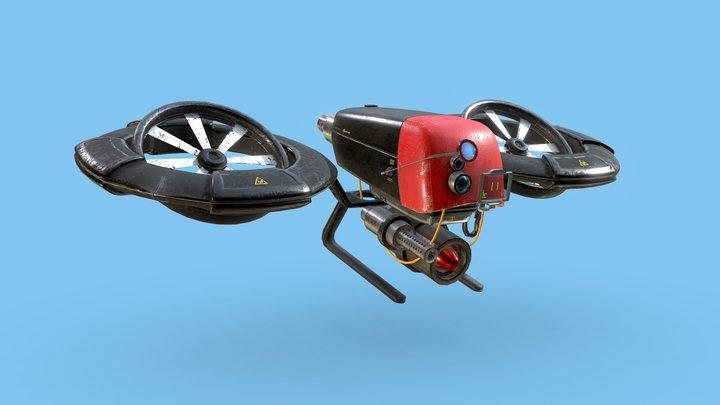Cyberpunk Drone Concept Design 3D Model