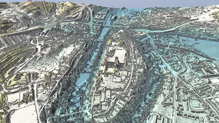 Durham City 3D Model