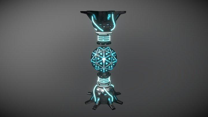 Power Crystal Reactor 3D Model