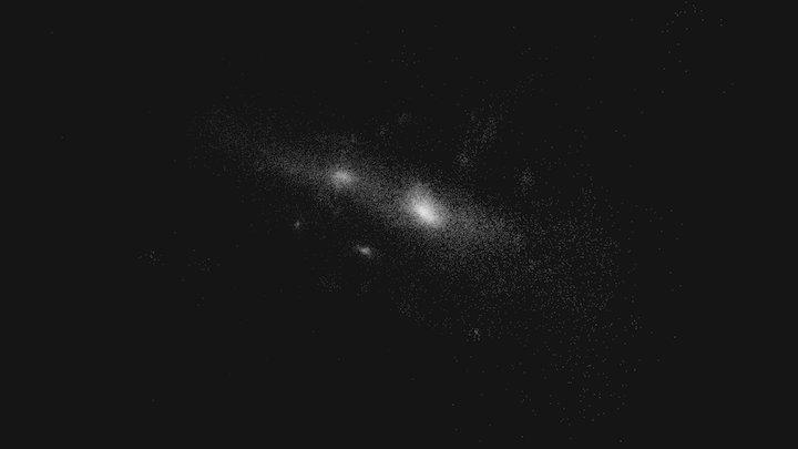 VELA_V2_07 - a0.160 - 20kpc - Stars 3D Model