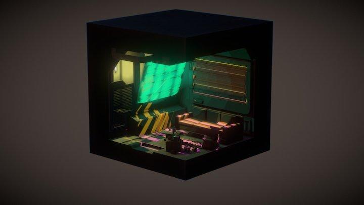 Cyberpunk Data Miner Den 3D Model
