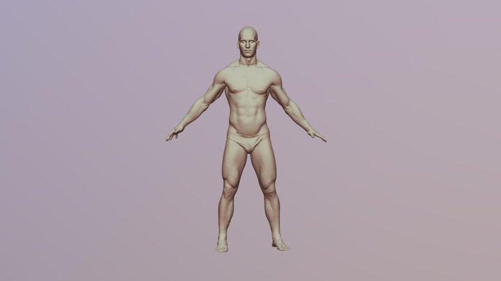 Richard 3D Scan of Nude 3D Model