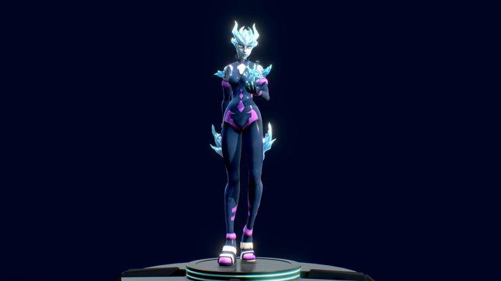 Kaarah game character 3D Model