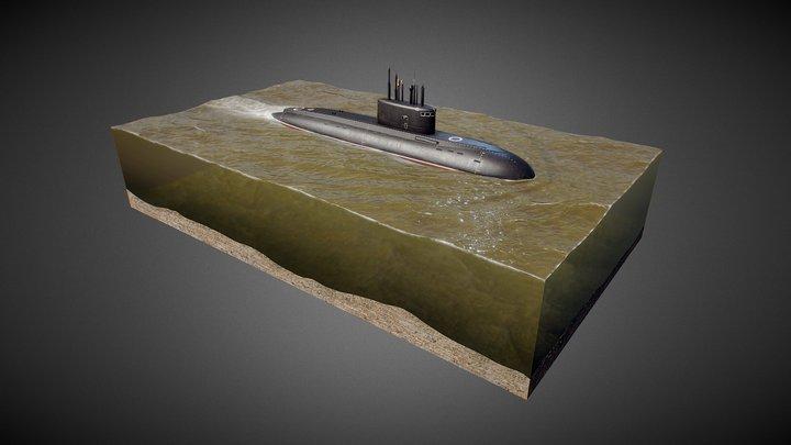 Submarine 636 Varshavyanka 3D Model