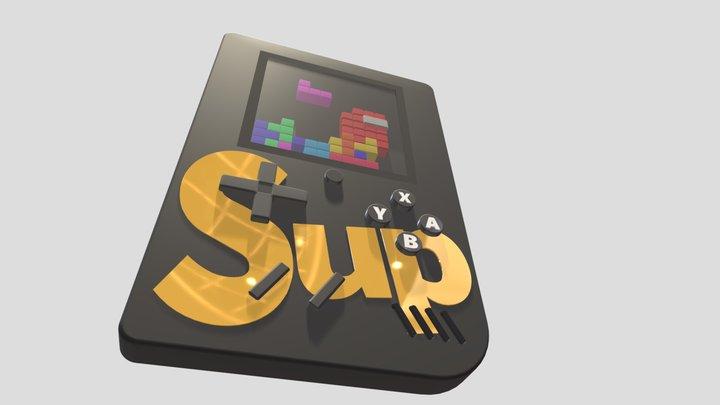 Gameboy Concluído - Tetris 3D Model