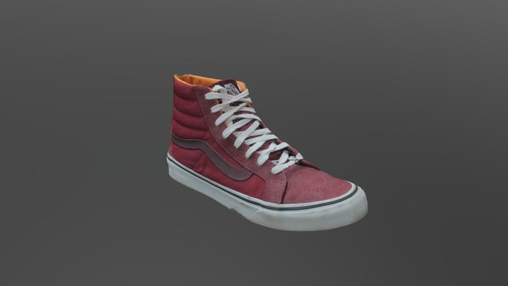 Red Dirty Shoe 3D Model