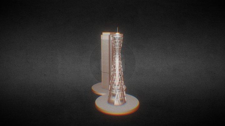 神戸ポートタワー 3D Model