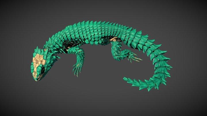 Sungazer lizard 3D Model