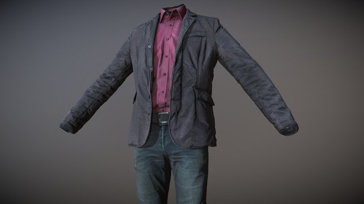 Men's Clothing_04 (3D scan) 3D Model