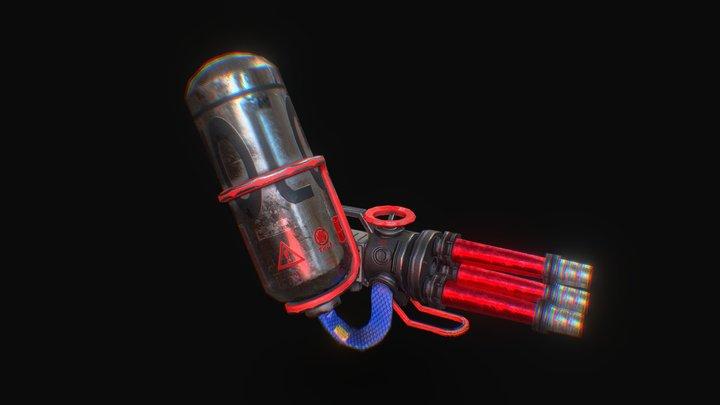 【Splatoon2】Kensa  Hydra Splatling 3D Model