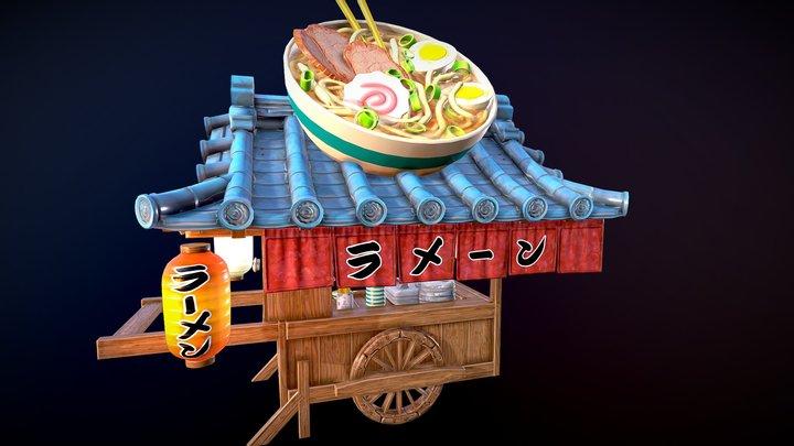 Street Food Vendor Challenge: Ramen Cart_ 3D Model