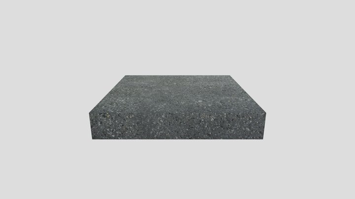 Ground Then Shotblasted (Kent) Black Granite 3D Model