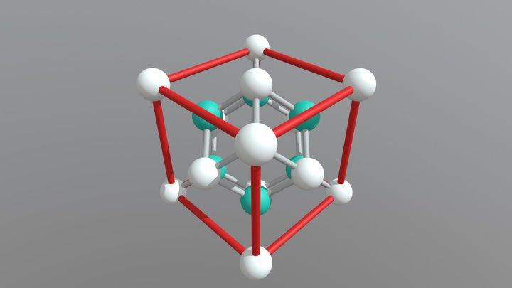 Ca F2 3D Model