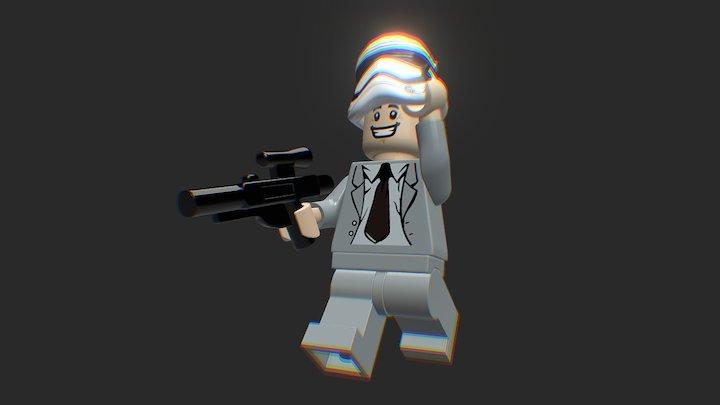 LEGO minifigure man 3D Model