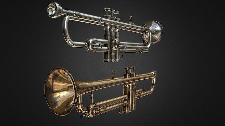 PBR Trumpet's 3D Model