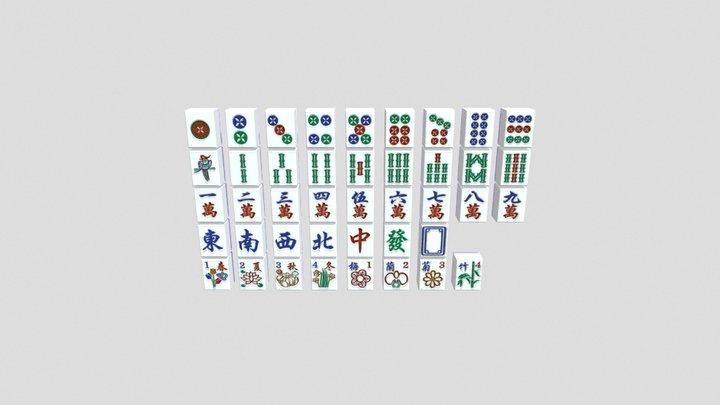 Chinese Mahjong 3D Model