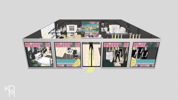 KOM Store Campaigne 3D Model